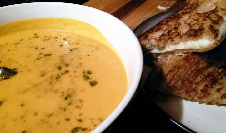 Roasted Tomato Soup with Pesto