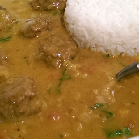 Mulligatawny with Lamb Meatballs