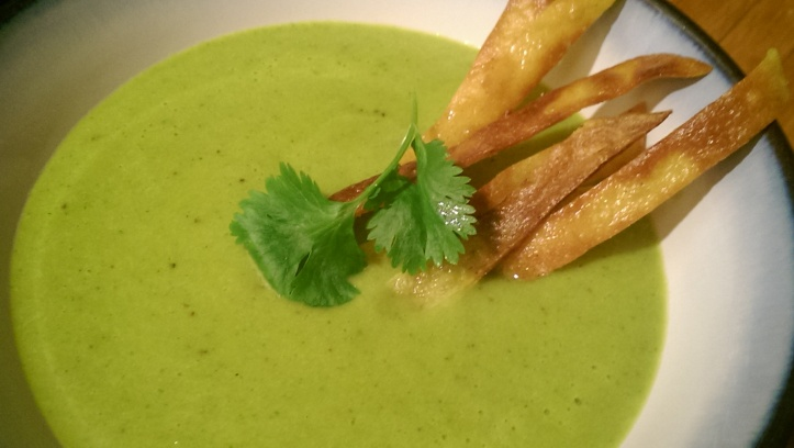 Roasted Hatch Chile Soup