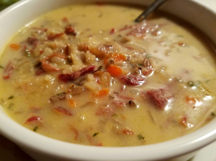 Smoked Turkey and Wild Rice Soup