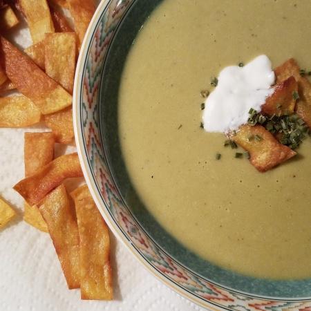 Cream of Roasted Jalapeno Soup